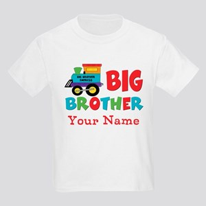 Big Brother Train Personalized Kids Light T-Shirt