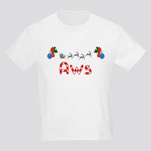 Aws, Christmas Kids Light T-Shirt