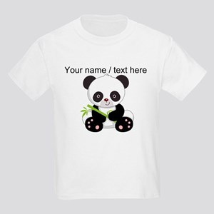 Custom Panda With Bamboo T-Shirt