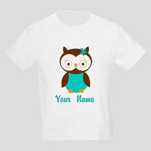 7f26fdabfb5ae Personalized Owl Kids Light T-Shirt