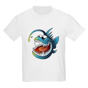 667131bea Angler Fish Kids T-Shirts - CafePress