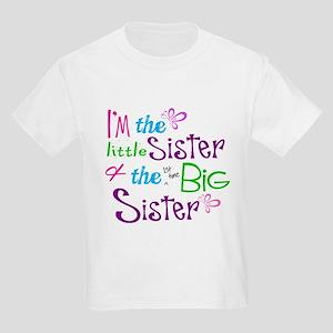 1a858c42 Im a littl and big sister T-Shirt