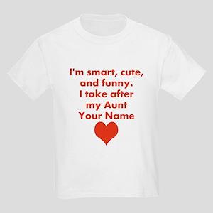 65c5a3baa3 Smart Cute And Funny Aunt (Custom) T-Shirt