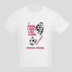 c5beffced Personalized Runner Girl Kids Light T-Shirt