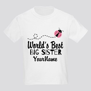 ce663bdbe1a5 Worlds Best Big Sister - Personalized Kids Light T