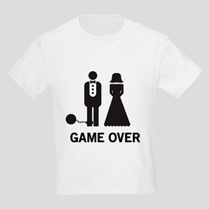 7dae7066 Game Over Wedding Kids T-Shirts - CafePress