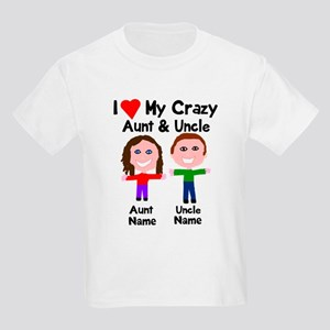 4398c908b Personalize crazy aunt uncle Kids Light T-Shirt