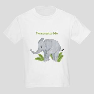 77f03a6b Personalized Elephant Kids Light T-Shirt