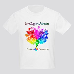 Autism Spectrum Tree Kids Light T-Shirt