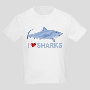 5c5220a5 I Love Sharks Kids Light T-Shirt