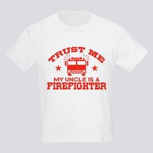 Trust Me My Uncle is a Firefigh Kids Light T-Shirt