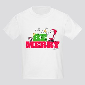 Snoopy: Be Merry Kids Light T-Shirt