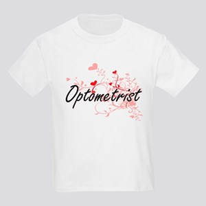 Optometrist Artistic Job Design with Heart T-Shirt