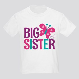 Butterfly Big Sister T Shirt