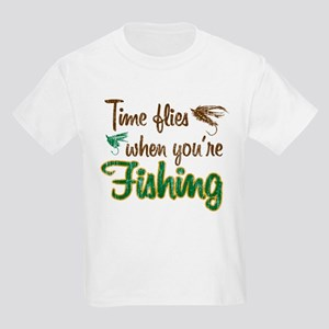 Time Flies When Fishing Kids Light T-Shirt