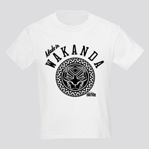 Black Panther Made Circle Kids Light T-Shirt
