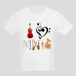 I Love Music Kids Light T-Shirt