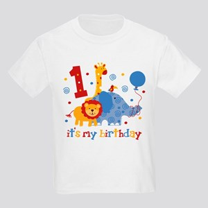 Safari 1st Birthday Kids Light T Shirt
