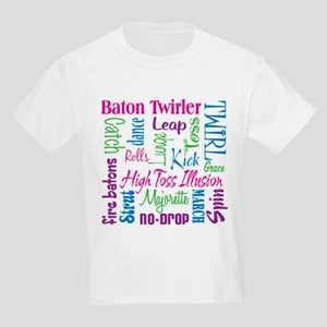 Baton Twirler Kids Light T-Shirt