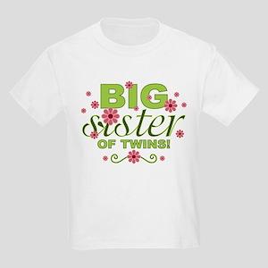b058e8e0e Big Sister of Twins Kids Light T-Shirt