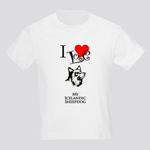 Icelandic Sheepdog Kids Light T-Shirt