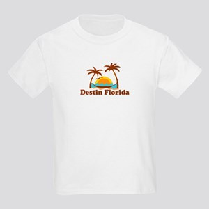 Destin Florida - Palm Tees Design. Kids Light T-Sh