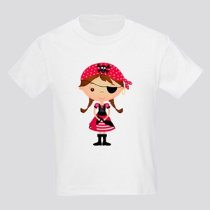 51bc06bd3 Pirate Girl in Red Kids Light T-Shirt