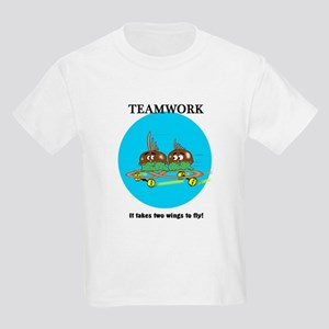 75d7c9248a Funny Teamwork Quotes Kids T-Shirts - CafePress