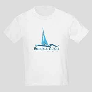 Emerald Coast - Sailing Design. Kids Light T-Shirt