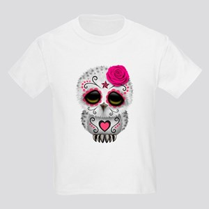 08ac96860 Pink Day of the Dead Sugar Skull Owl T-Shirt