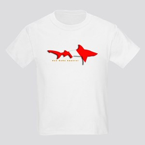 Shark Diving Flag Kids Light T-Shirt