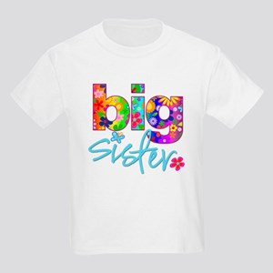 98a8e82e6d30b big sister t-shirt flower Kids Light T-Shirt
