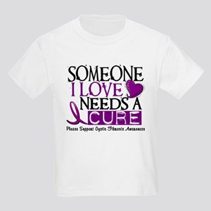 Needs A Cure CYSTIC FIBROSIS Kids Light T-Shirt