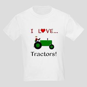 064dfddba I Love Green Tractors Kids Light T-Shirt