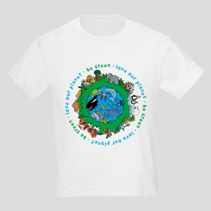 Be Green Love our planet Kids Light T-Shirt
