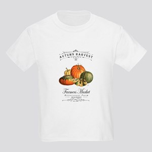 Modern vintage fall gourds and pumpkin T-Shirt