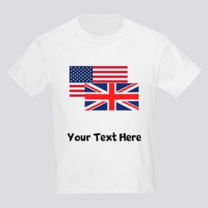 American And British Flag T-Shirt