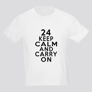 24 Keep Calm And Carry On Birth Kids Light T-Shirt