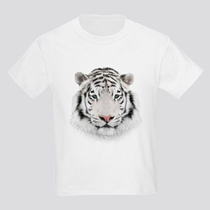 White Tiger Head Kids Light T-Shirt