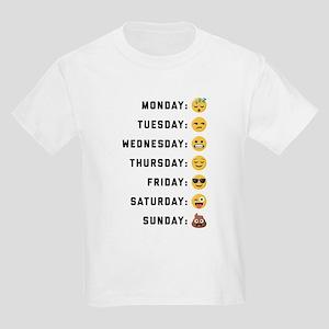 Emoji Days of the Week Kids Light T-Shirt