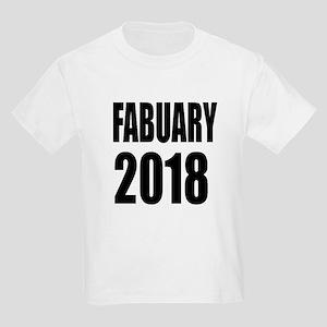 February 2018 Birthday Designs Kids Light T-Shirt