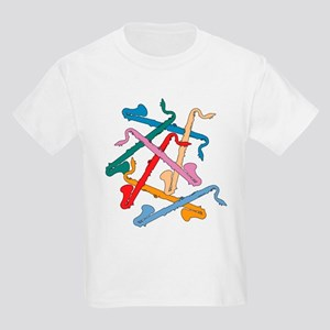 Colorful Bass Clarinets Kids T-Shirt