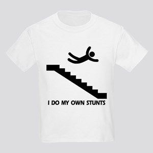 Strairs, I Do All My Own Stunts Kids T-Shirt