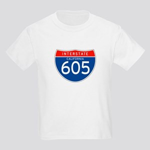 Interstate 605 - CA Kids T-Shirt