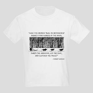 Mushed Your Huskies Poem Kids Light T-Shirt