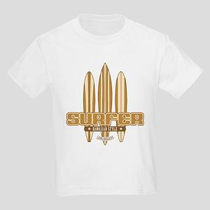 Long Board Surfer Kids Light T-Shirt