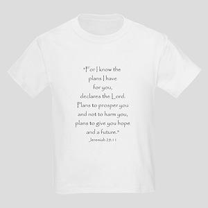 Jeremiah 29:11 Kids Light T-Shirt