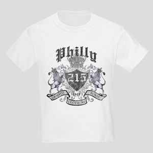 """PHILLY 215 LION CREST"" Kids Light T-Shirt"