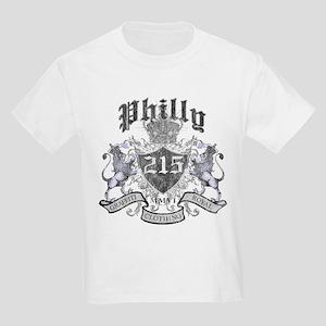 """""""PHILLY 215 LION CREST"""" Kids Light T-Shirt"""