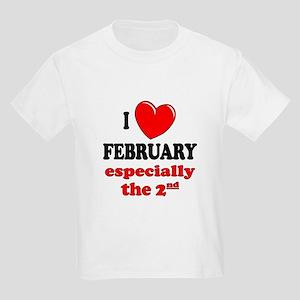 February 2nd Kids Light T-Shirt